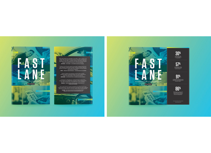 Fast Lane Book Cover Design by Cox Automotive Creative Studios