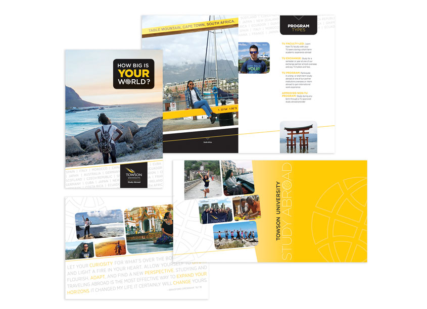 Towson University Creative Services How Big Is Your World Brochure