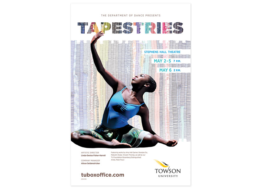 Towson University Creative Services Tapestries Dance Concert Poster