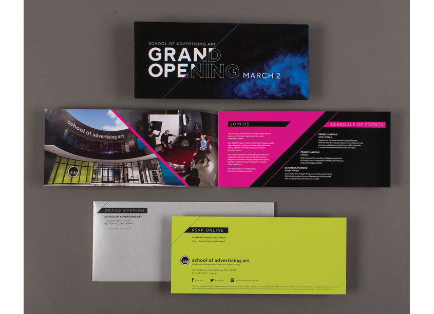 Grand Opening Invitation Set by School of Advertising Art