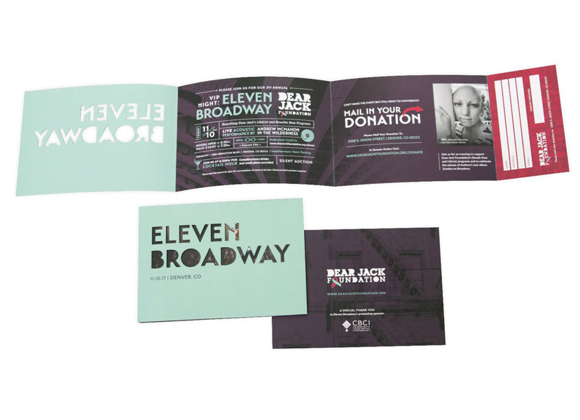 Mspark Dear Jack Foundation Eleven Broadway Invitation