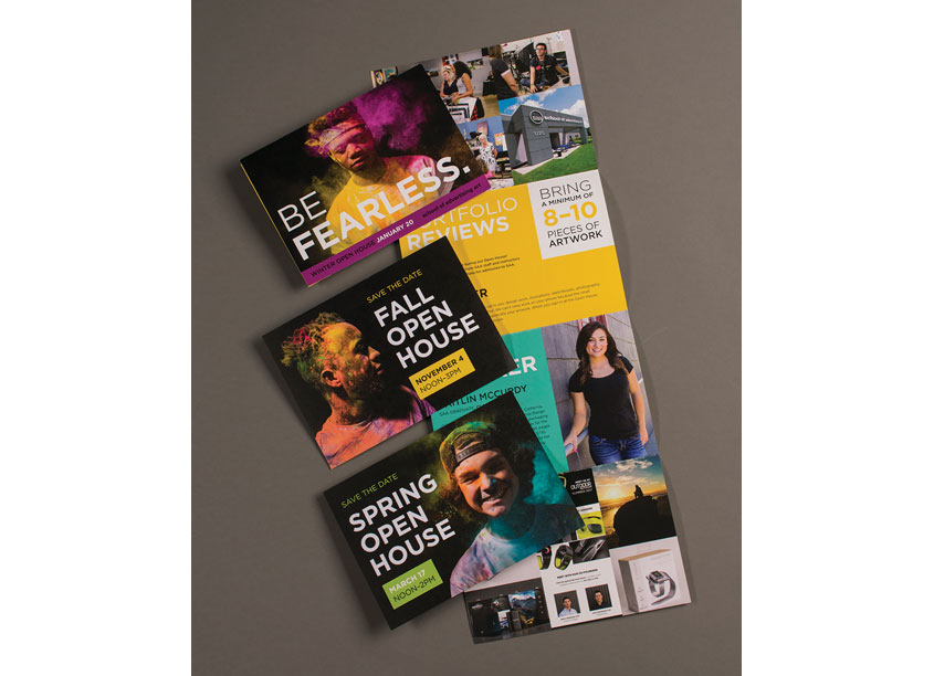 Open House Student Mailers by School of Advertising Art