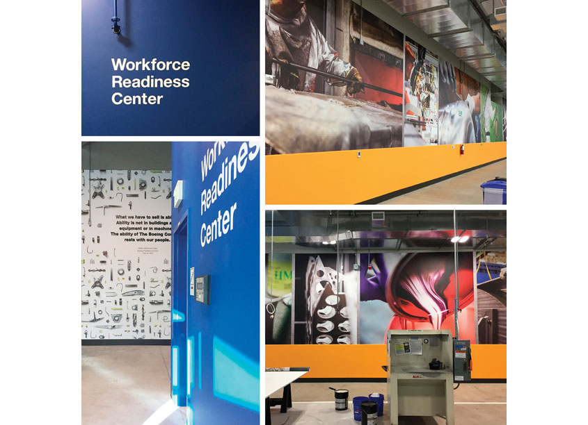 The Boeing Company Workforce Readiness Center Environmental Graphics