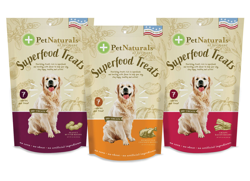 FoodScience Corporation Superfood Treat Pet Treat Packaging