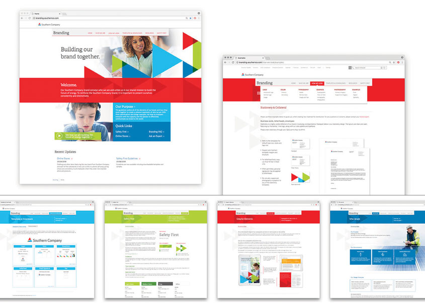 Southern Company Branding Guidelines Intranet Site by Southern Company