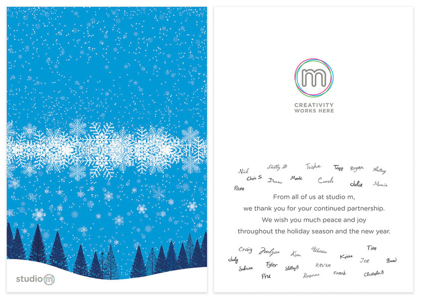studio m Holiday Card 2017 by MassMutual, studio m