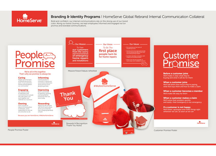 HomeServe Global Rebrand - Internal Communication/Collateral by HomeServe USA