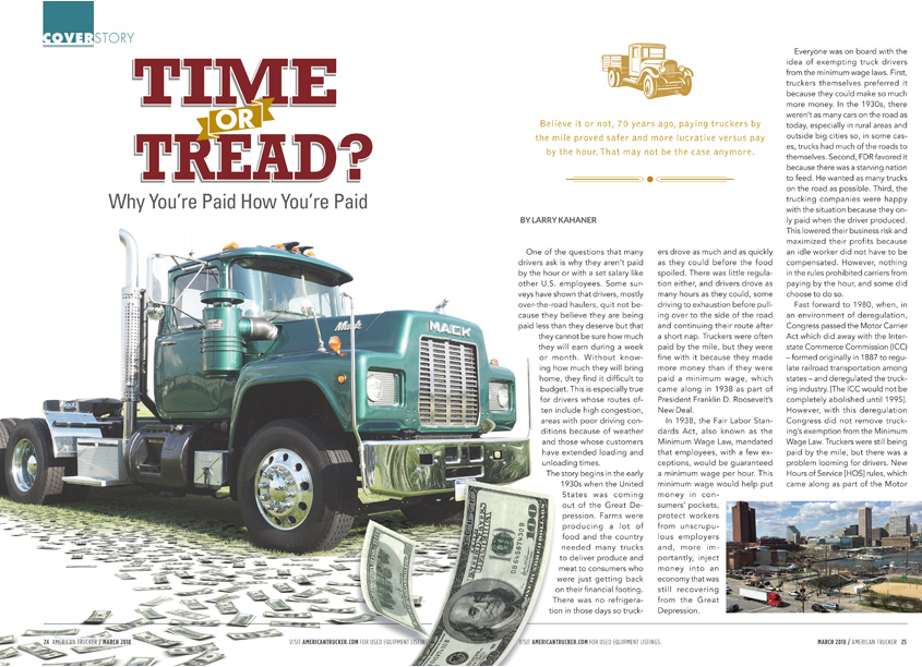 American Trucker Magazine Time or Tread