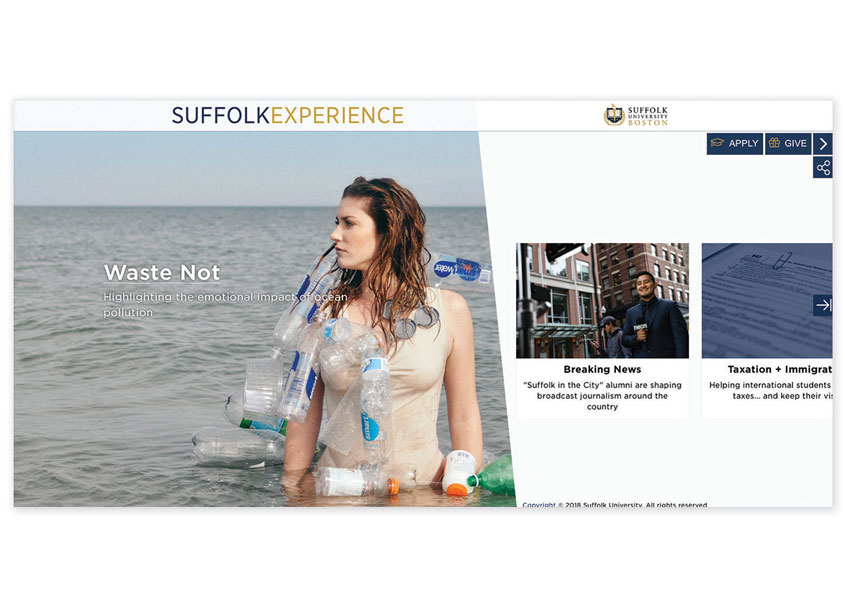 Suffolk Experience Microsite by Suffolk University
