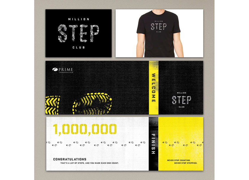 Million Step Club Campaign Identity by Prime Therapeutics