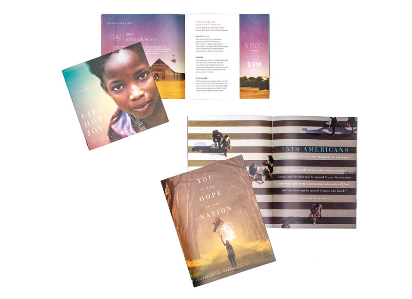 Fundraising Campaign Collateral by American Bible Society