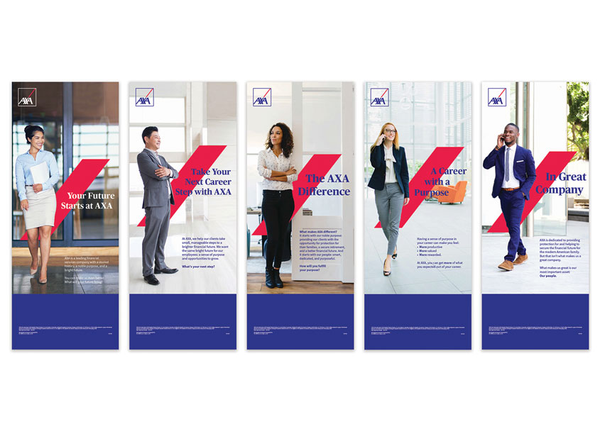 AXA AXA HR Recruiting T-Stands