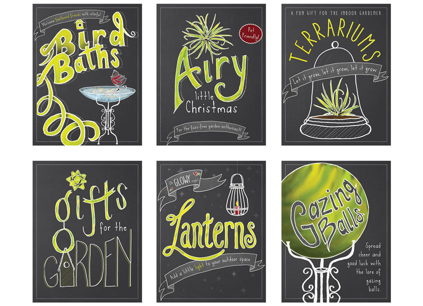 Holiday Chalkboard Signage by Green Acres Nursery & Supply