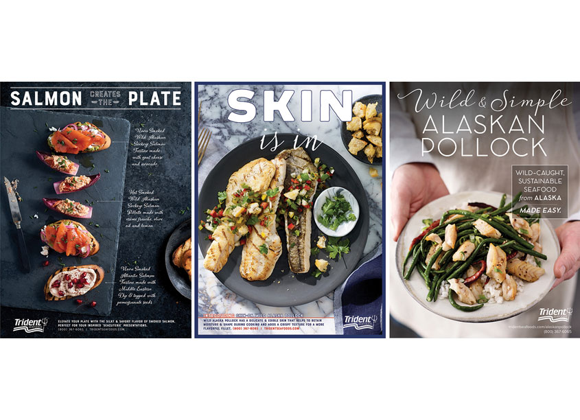 Trident Seafoods Print Advertising Campaign