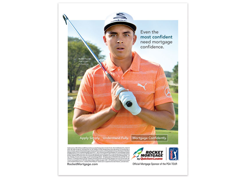 Quicken Loans Rickie Fowler Mortgage Confidence Print Advertisement