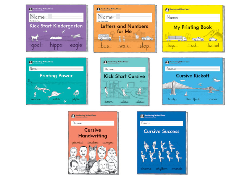 Handwriting Without Tears Handwriting Workbook Covers by Handwriting Without Tears