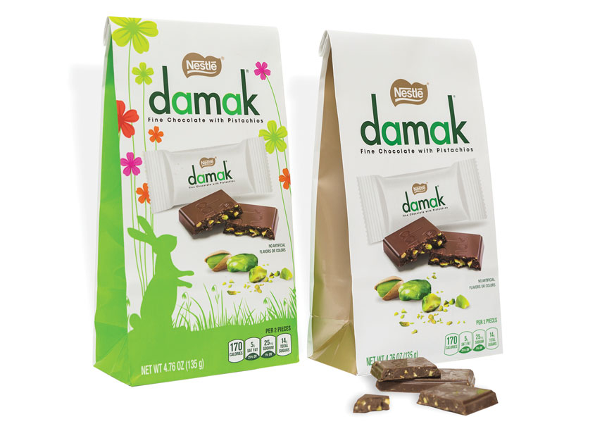 Nestlé USA/ICON Creative Agency Damak Fine Chocolate with Pistachio Packaging