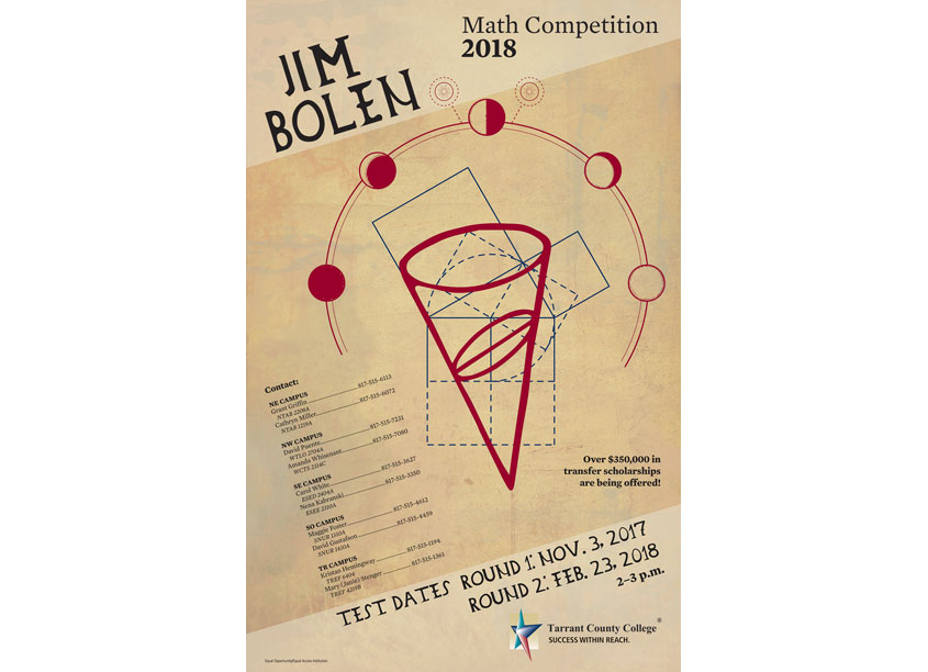 Tarrant County College District 2018 Jim Bolen Math Competition Poster