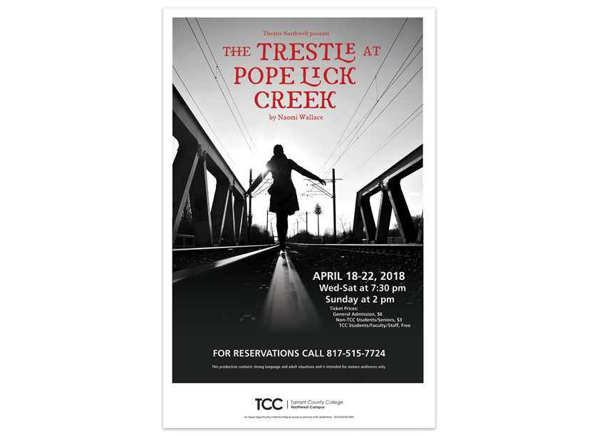 Tarrant County College District The Trestle at Pope Lick Creek Poster