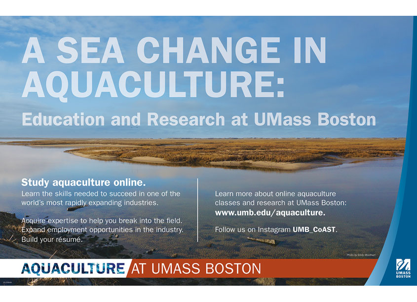 University of Massachusetts Boston Aquaculture Outreach Poster
