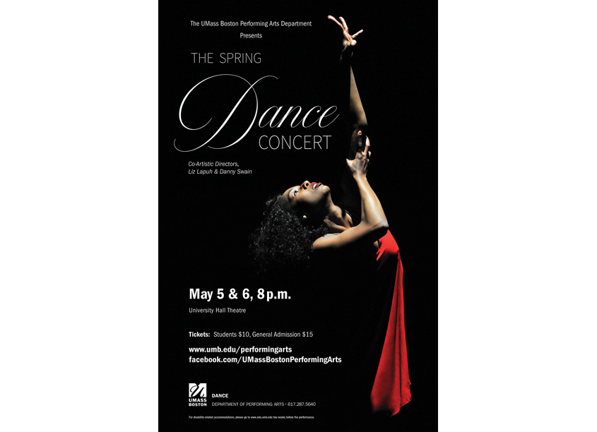 University of Massachusetts Boston Spring Dance Concert Poster