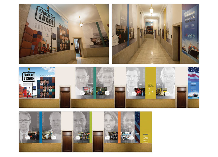 U.S. Chamber of Commerce Faces of Trade Exhibit Graphics