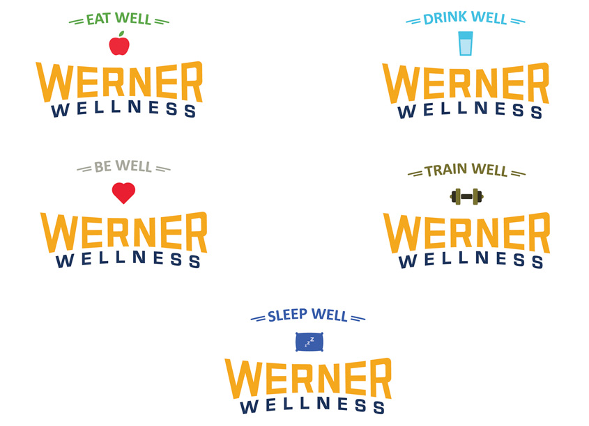 Werner Wellness Logos by Werner Enterprises
