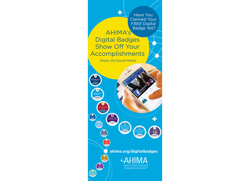 American Health Information Management Association (AHIMA) AHIMA Digital Badges Display