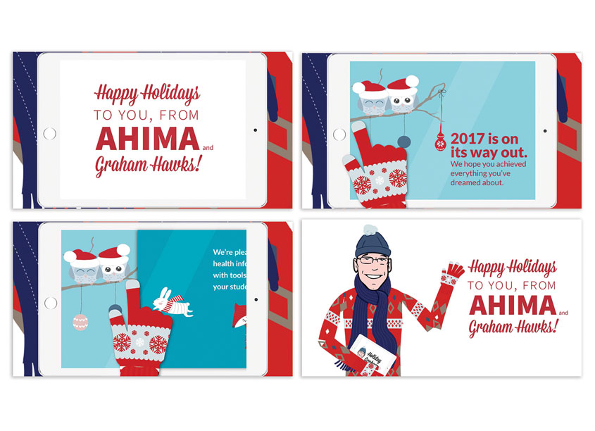 Holiday 'Graham' Animation by American Health Information Management Association (AHIMA)