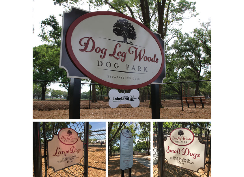 City of Lakeland Dog Leg Woods Dog Park Signage