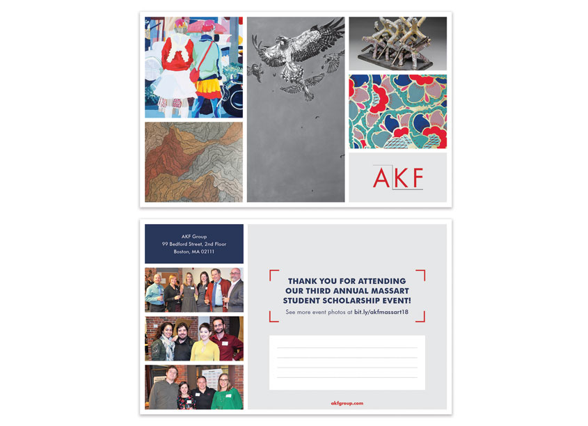 AKF MassArt Student Scholarship Competition: Postcard by AKF Group