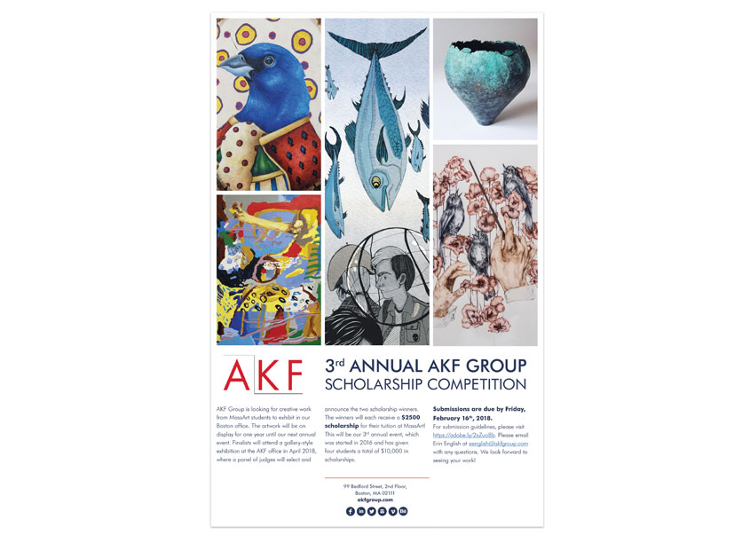 AKF Group AKF MassArt Student Scholarship Competition Poster