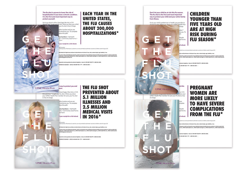 UPMC Health Plan UPMC Health Plan Flu Direct Mail Campaign 2017