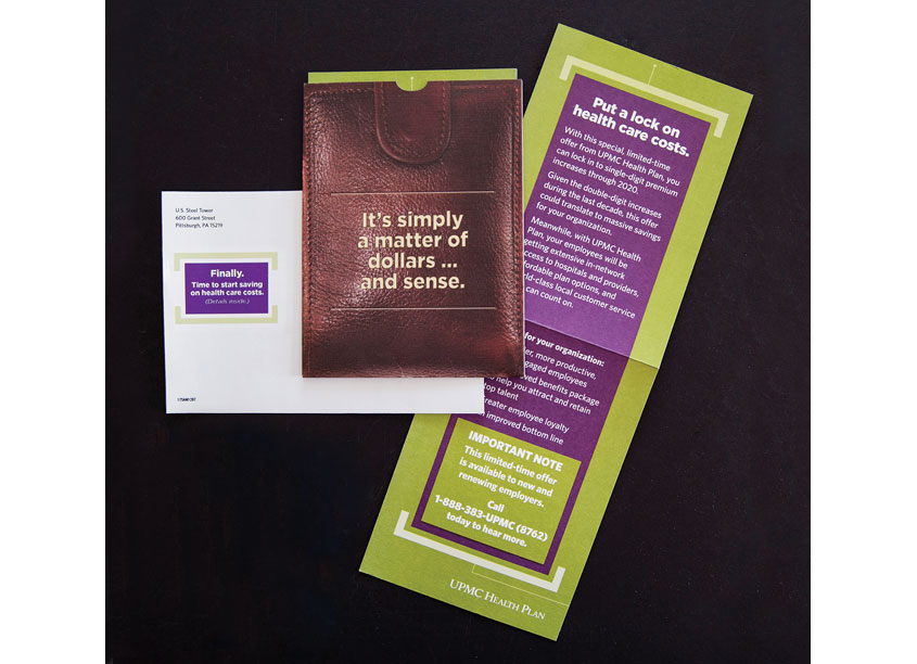 UPMC Health Plan Executive Rate Cap Incentive Mailer by UPMC Health Plan