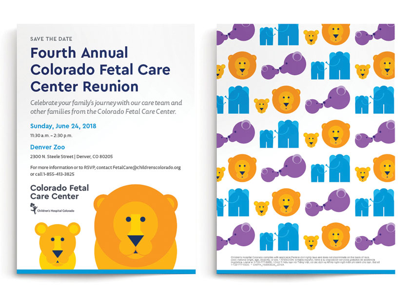 Children's Hospital Colorado Colorado Fetal Care Center Reunion Invitation