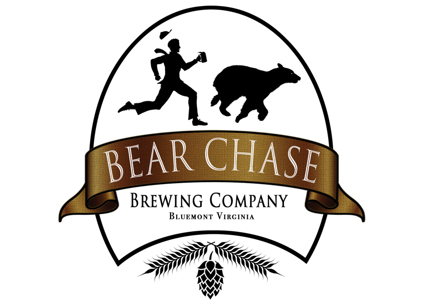 Bear Chase Brewery Logo by Hill Design