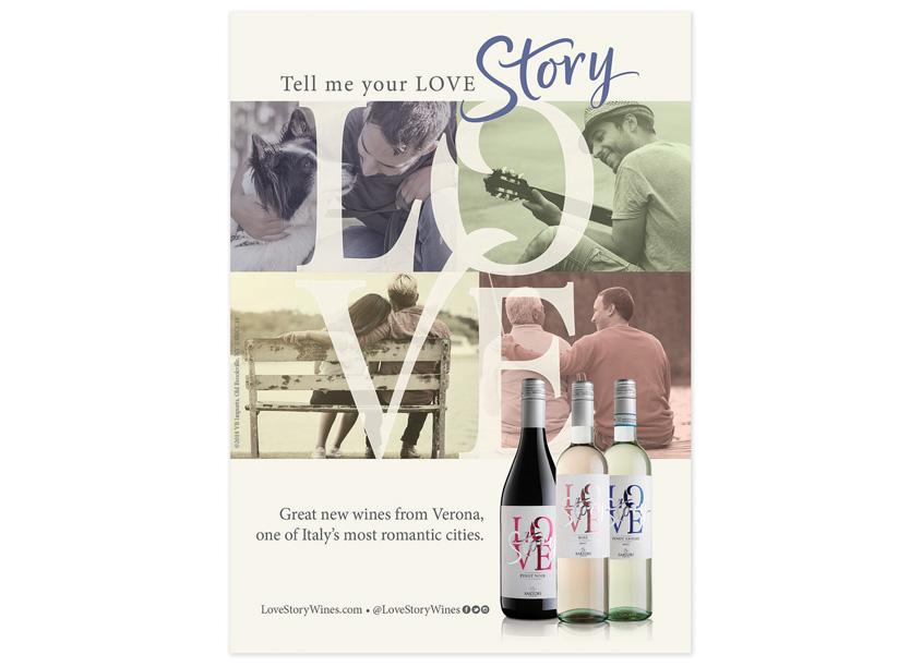 Banfi Vintners Love Story Campaign
