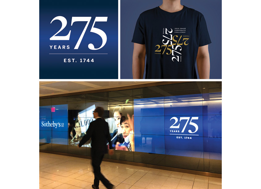 275 Year Anniversary Logo and Branding by Sotheby's Creative Services