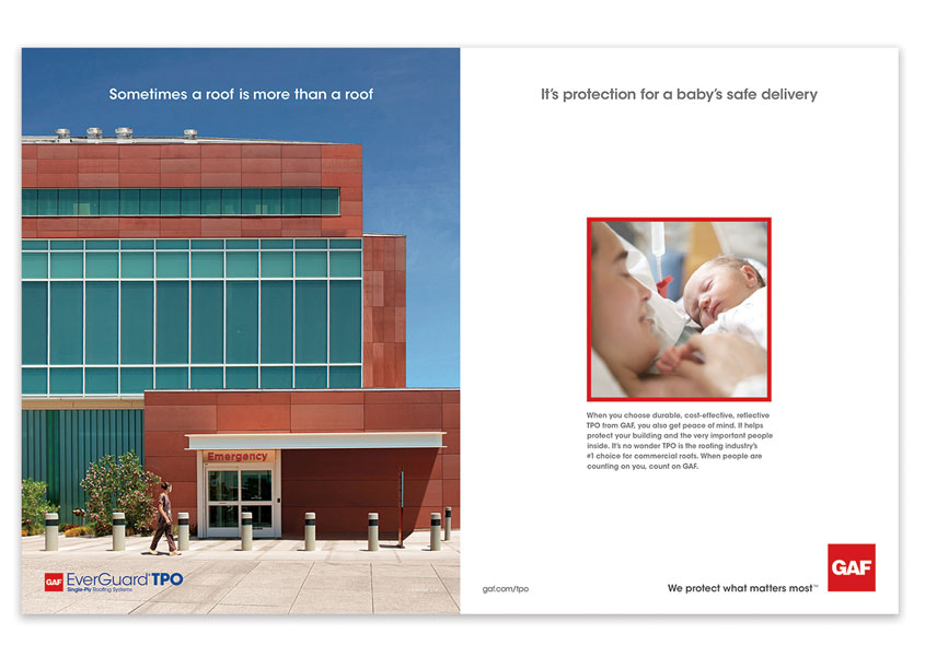 GAF Brand Ad �Hospital� by GAF/Creative Design Services