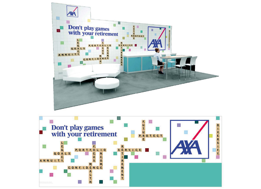 LPL Tradeshow Booth Graphic by AXA In-House Agency