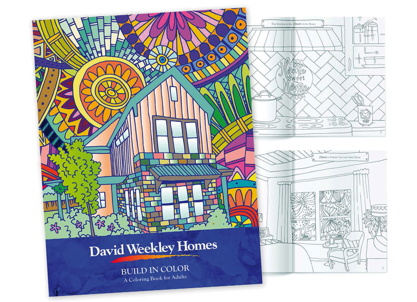David Weekley Homes David Weekley Homes Adult Coloring Book
