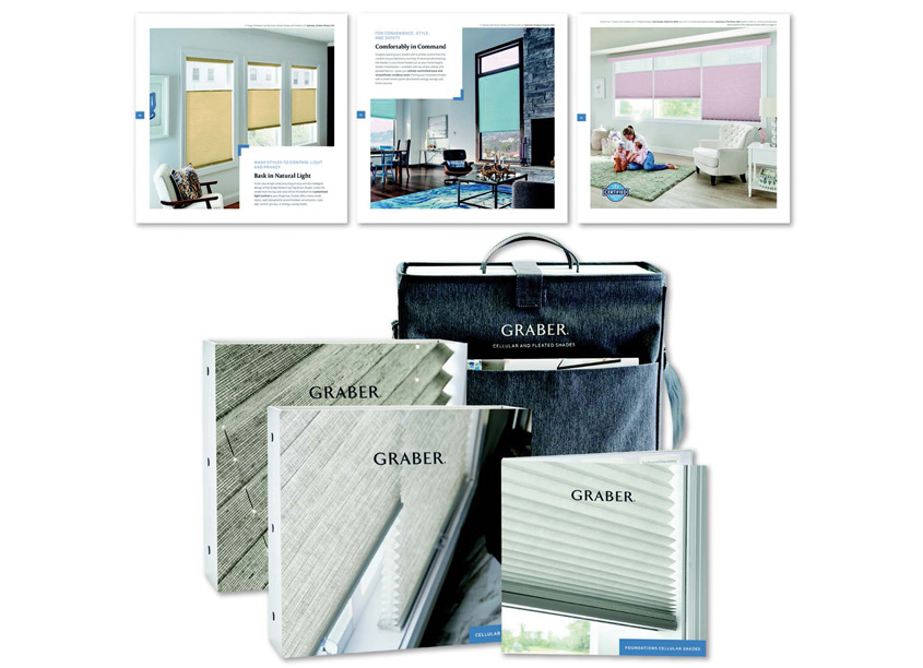 Cellular and Pleated Shades Sampling Bag by Springs Window Fashions - Integrated Marketing