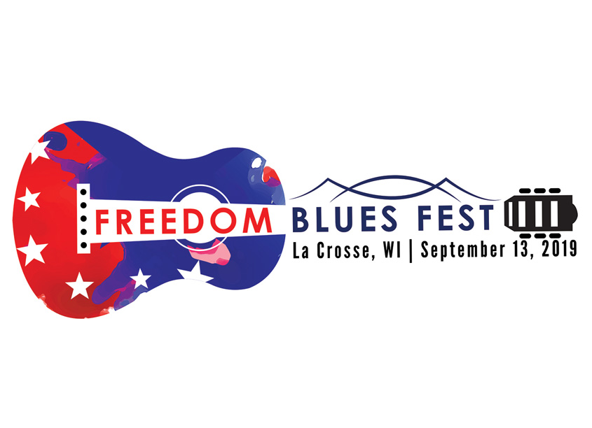 Freedom Blues Fest Freedom Blues Fest Logo Design