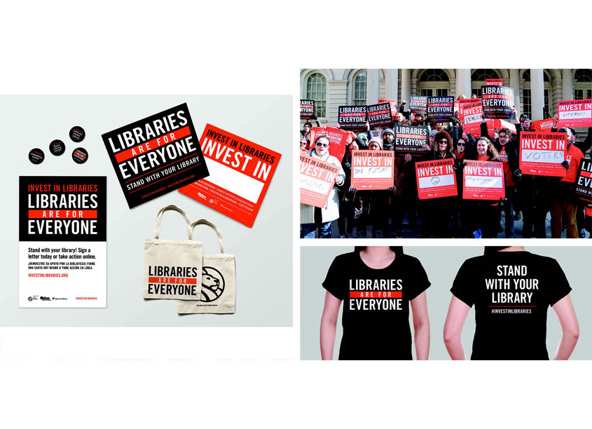 Invest In Libraries Advocacy Campaign by The New York Public Library, Creative Services