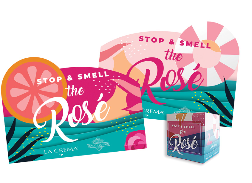 Stop and Smell the Rosé Point of Sale by Jackson Family Wines Creative