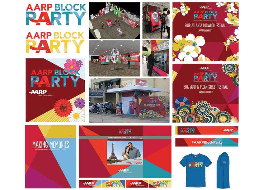 AARP 2019 Block Party Festivals Display by AARP Brand Creative Services