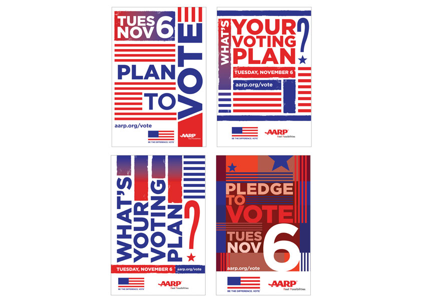 AARP Vote Postcard Series by AARP Brand Creative Services