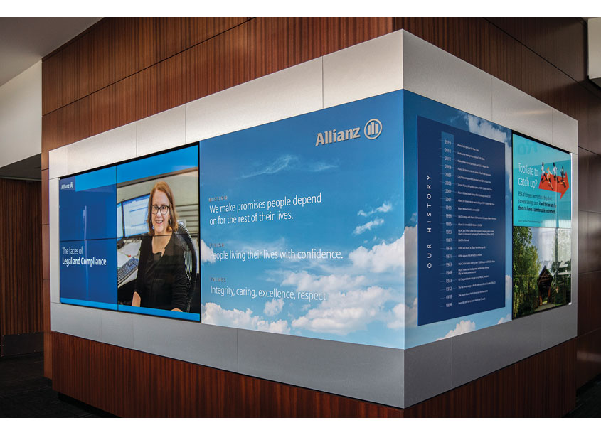Allianz Life Insurance Company of North America Digital Wall Display and Templates