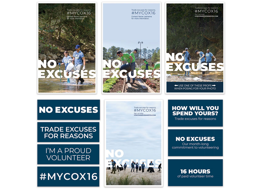 Cox Enterprises Creative Studio 2019 No Excuses Campaign