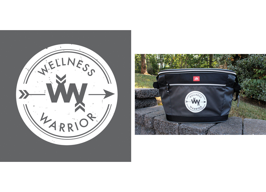 Blevins, Inc. Wellness Warrior Logo Design